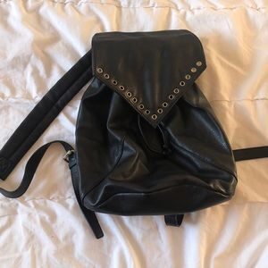 Leather style back pack